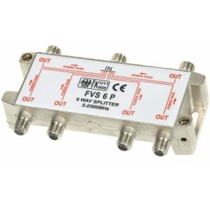 Splitter 6-weg +dubbele powerpass
