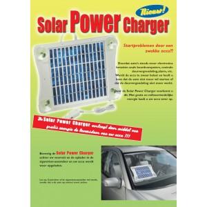 Solar Power Charger  - houdt uw Accu fit  (oplader via Zonne-energie)